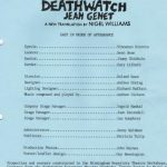 Deathwatch by Jen Genet trans Nigel Williams. Foco Novo.