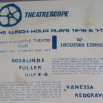 Theatrescope Lunch-Hour Plays schedule
