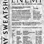 The Last Enemy by Carl Miller. Gay Sweatshop. Poster design: Angela Stewart Park.