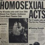 Homosexual Acts Extended Play Season. Inter-Action Productions with Gay Sweatshop. 1975.